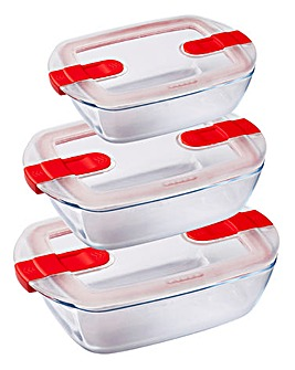 Pyrex Cook&Heat Rectangle Roaster Set