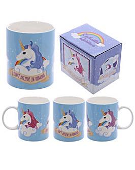 New Bone China Mug - Unicorn Slogan