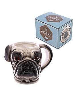 Ceramic Shaped Novelty Mug - Pug