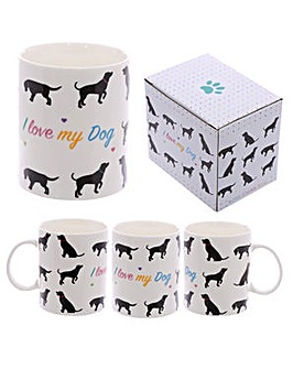 New Bone China Mug - I Love My Dog