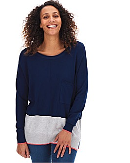 Navy Multi Boxy Jumper