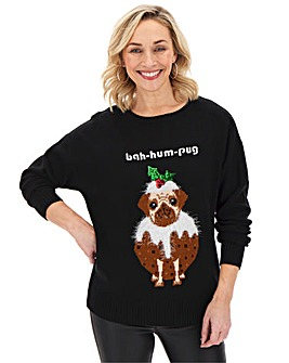 Christmas Bah-Hum-Pug Jumper