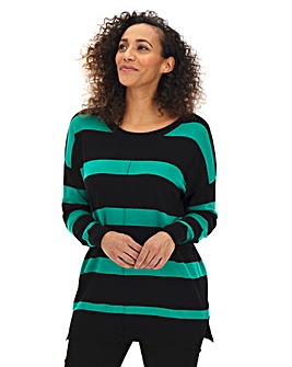 Black Stripe Boxy Jumper