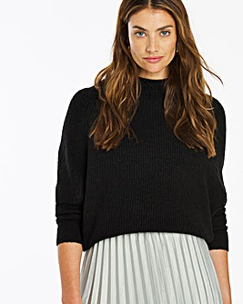 Cosy Ribbed Funnel Neck