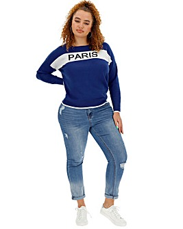 Paris Slogan Jumper