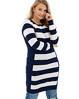 Navy/Ivory Illusion Tunic