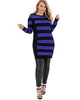 Black/Cobalt Illusion Tunic