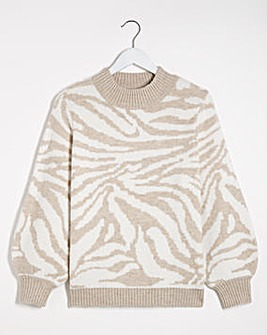 Cosy High Neck Volume Sleeve Jumper