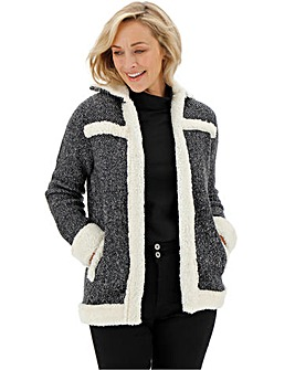 Sherling Knitted Jacket