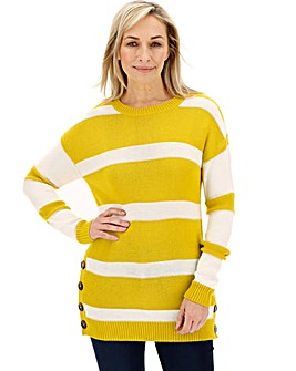 Chartreuse Button Side Tunic