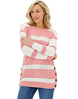 Blush Button Side Tunic