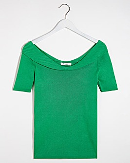 Green Sweetheart Short Sleeve Jumper