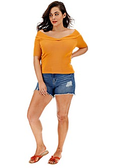 Saffron Sweetheart Short Sleeve Jumper