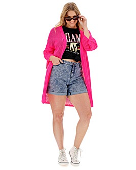 Pink Pointelle Cardigan