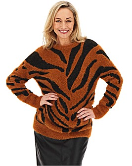 Feather Yarn Tiger Tunic