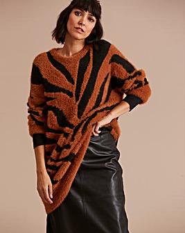 Feather Yarn Tiger Tunic