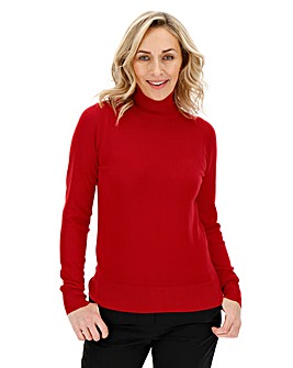 Red Roll Neck Jumper