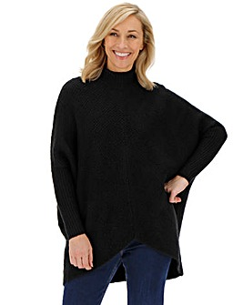 Cosy Black High Neck Ribbed Jumper