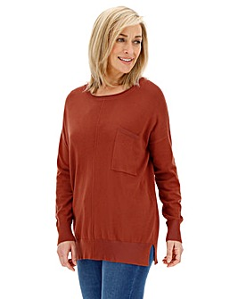 Burnt Orange Boxy Jumper