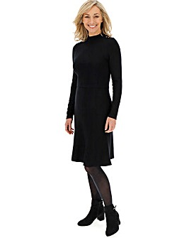 Black Ottoman Rib Dress