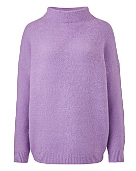 Cosy Lilac High Neck Jumper