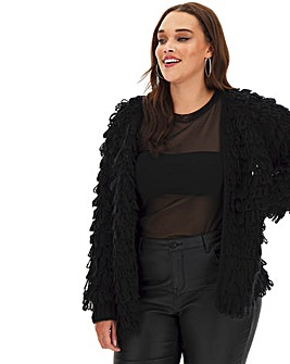 Black Loopy Cardigan