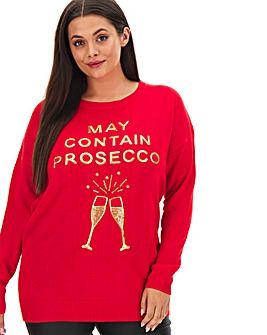 Christmas May Contain Prosecco Tunic