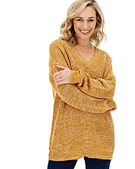 Twist Yarn V Neck Jumper