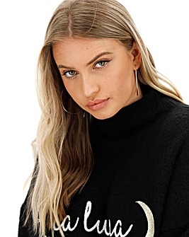 Cosy La Luna High Neck Jumper