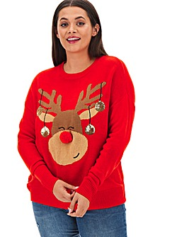 Christmas Reindeer Matching Jumper
