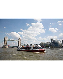 Marco Pierre White Three Course Meal and Thames River Sightseeing Cruise for Two