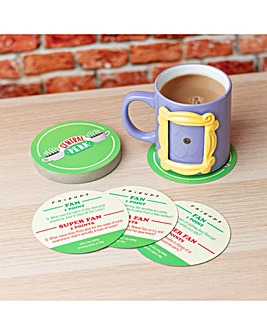 Collectible Iconic Friends Photoframe mug and Central Perk Trivia Quiz Coasters