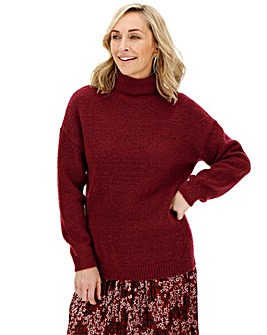 Cosy Wine High Neck Jumper
