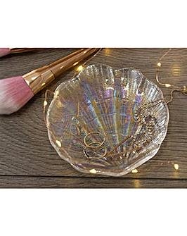 Ava & I Glass Shell Trinket Dish