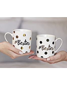Ava & I Set of 2 Can Mugs Besties
