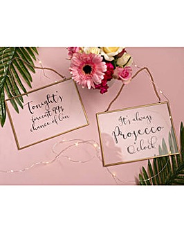 Ava & I Prosecco Glass Hanging Sign