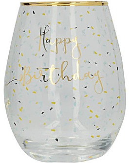 Ava & I Birthday Stemless Wine Glass