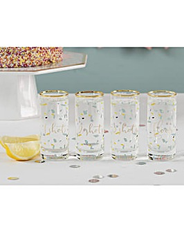 Ava & I Party Set of Four Shot Glasses