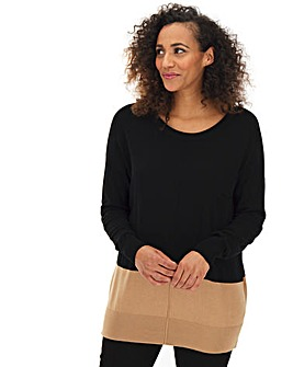 Black Multi Boxy Jumper