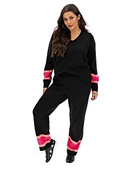 Black/Pink Stripe Joggers