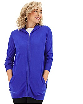 Cobalt Hooded Sportive Cardigan