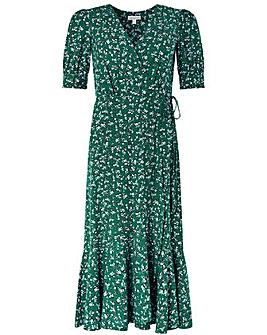 Monsoon Fagen Ditsy Print Midi Dress