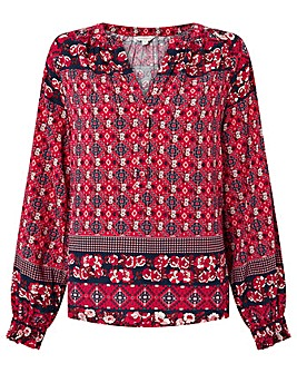 Monsoon Deanna Print  Top