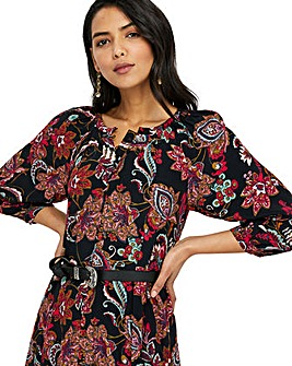 Monsoon Danny Paisley Midi Dress