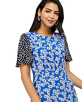 Monsoon Delta Print Ecovero Midi Dress