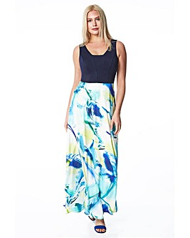Roman Abstract Print Maxi Dress