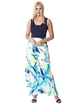Roman Abstract Print Maxi Dress