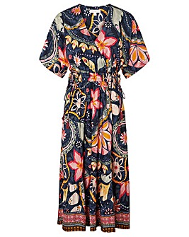 Monsoon Rhonda Print Midi Dress