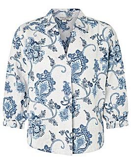 Monsoon Esther Printed Linen Shirt