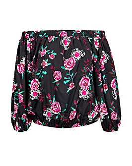 Koko Dark Roses Bardot Top